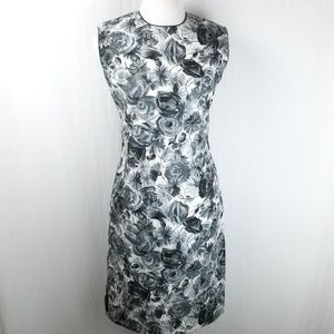 Vintage Sydney Honolulu Grey White Floral Dress